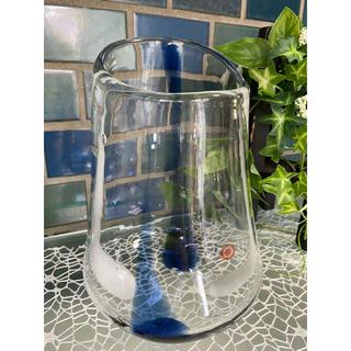 アンティーク ガラス フラワーベース 時代ガラス(ガラス)