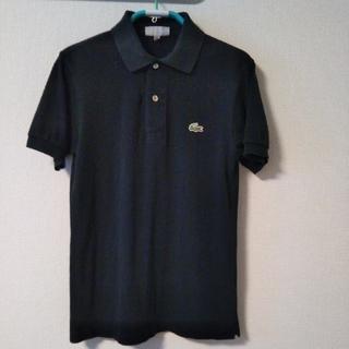 ラコステ(LACOSTE)のラコステ  ポロシャツ 黒 サイズ2(Tシャツ/カットソー(半袖/袖なし))