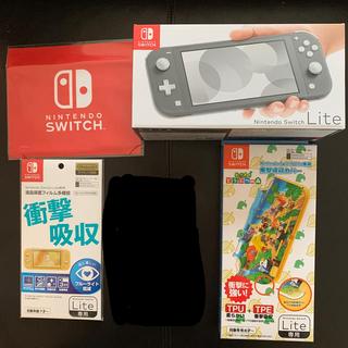 Nintendo Switch - Nintendo Switch Lite グレー あつまれどうぶつの森 セット