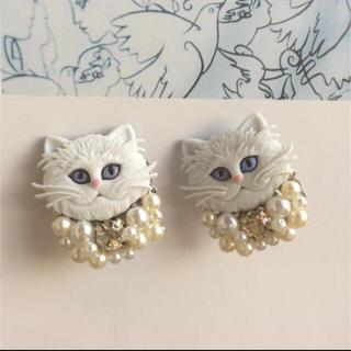 IENA - 大人気♡Perl cat 猫イヤリング wall アッシュペー