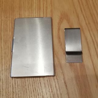 ムジルシリョウヒン(MUJI (無印良品))のカードケース マネークリップ セット(名刺入れ/定期入れ)
