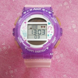 キラキラ アルジー デジタルソーラーウォッチ(腕時計)