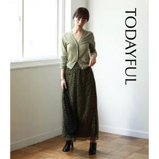TODAYFUL - 人気【TODAYFUL】Flower Slit Skirt 小花柄ロングスカート