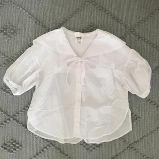 kids sailor collar puff blouse(ブラウス)