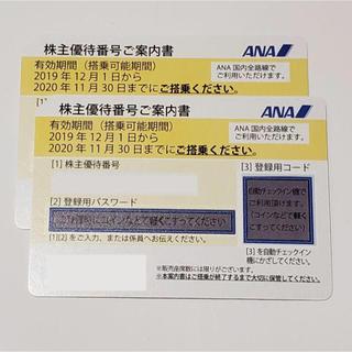 エーエヌエー(ゼンニッポンクウユ)(ANA(全日本空輸))の【送料無料】ANA株主優待券2枚(航空券)