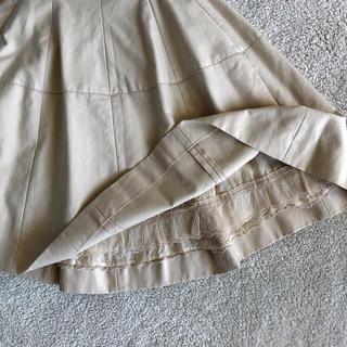 FOXEY - 値下げ)フォクシーフレアスカート薄いベージュ 40