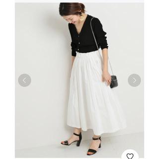 IENA - ポプリンボリュームプリーツスカート◆