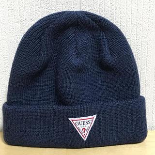 ゲス(GUESS)のニット帽 ニットキャップ guess ゲス 新品未使用 男女兼用 送料無料(ニット帽/ビーニー)