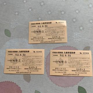 極楽湯入浴券3枚(その他)