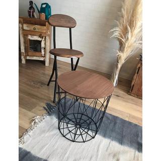 アイアンウッドカフェテーブル ビンテージアンティーク(コーヒーテーブル/サイドテーブル)