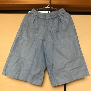 ユニクロ(UNIQLO)のユニクロ ワイドパンツ(膝下丈) 女の子 130 ポケットあり(パンツ/スパッツ)