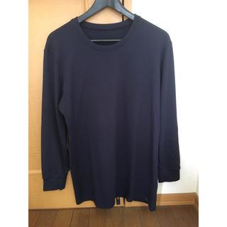 ユニクロ(UNIQLO)のHEATTECH ULTRAWARM  ヒートテックウルトラウォーム   紺色(Tシャツ/カットソー(七分/長袖))