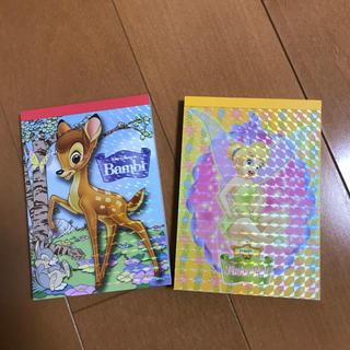 Disney - (未使用品)バンビ・ティンカーベルメモ2冊セット