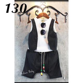 韓国子供服 ベスト・シャツ・ズボンが上下セット(ドレス/フォーマル)