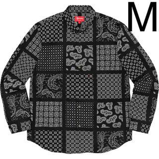 Supreme - Mサイズ SUPREME Paisley Grid Shirt ペイズリー