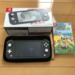 Nintendo Switch - Switchライト グレー あつ森セット