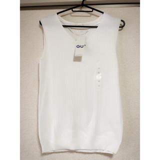 ジーユー(GU)の新品 UVカットウォッシャブルVネックセーター(カットソー(半袖/袖なし))