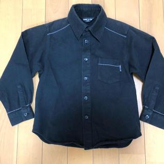 コムサイズム(COMME CA ISM)のコムサイズム Yシャツ 黒100長袖 子供 キッズ 発表会 入学式 卒園式(ドレス/フォーマル)