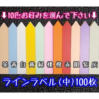 ◎100枚◎(中)選べるカラー ラインラベル 園芸ラベル カラーラベル(その他)