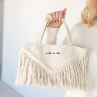 アリシアスタン(ALEXIA STAM)のアリシアスタン♡ V Long Fringe Small Tote Bag (トートバッグ)