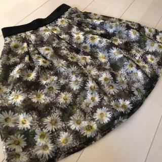 アプワイザーリッシェ(Apuweiser-riche)の美品🎀Apuweiser-richeの2層オーガンジースカート(ひざ丈スカート)