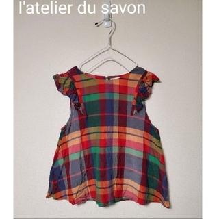 アトリエドゥサボン(l'atelier du savon)のI'atelier du savon チェックブラウス・未使用品(シャツ/ブラウス(半袖/袖なし))