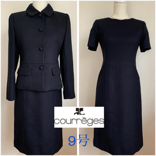クレージュ(Courreges)のCourreges クレージュ ワンピーススーツ 濃紺 サイズM シルク混(スーツ)