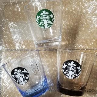 Starbucks Coffee - スタバ ロゴ グラス 3点セット 匿名配送