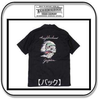 NEIGHBORHOOD - ネイバーフッド スカル刺繍の半袖オープンシャツ ブラック 「M」