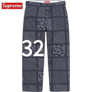 シュプリーム(Supreme)のSupreme Paisley Grid Chino Pant Navy(32)(チノパン)