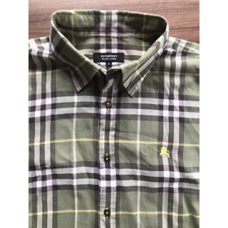 BURBERRY BLACK LABEL - バーバリーブラックレーベル グリーン半袖シャツ