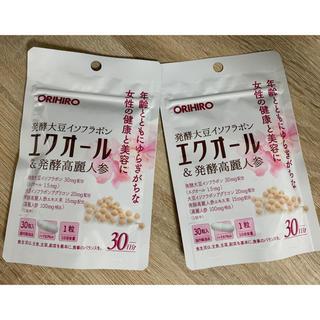 オリヒロ(ORIHIRO)のオリヒロ エクオール&発酵高麗人参 30粒×2個セット(その他)