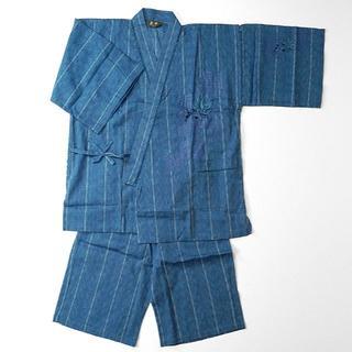 甚平 メンズ しじら織 刺繍 歌舞伎 隈取 縞(着物)