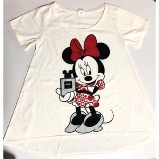 ディズニー(Disney)のレトロデザイン☆ミニーマウス♡Tシャツ(M)(チュニック)