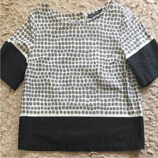 マリメッコ(marimekko)のマリメッコ Marimekko ドット ブラウス(シャツ/ブラウス(半袖/袖なし))
