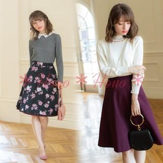 tocco - tocco closet*オリジナルフラワーリバーシブルスカート