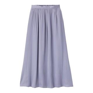 GU - GU ギャザーロングスカート スカート サテン