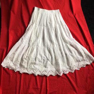 オリーブデオリーブ(OLIVEdesOLIVE)のオリーブデオオリーブ白ロングスカート(ロングスカート)