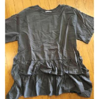 ザラ(ZARA)の♡本日限定お値下♡ZARA フリル Tシャツ♡ブラック S(Tシャツ(半袖/袖なし))