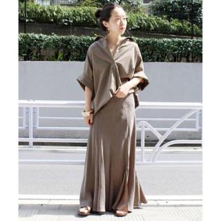 Plage - plage2020 SS購入Fibril ギャザーロングスカート、サイズ36