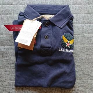 アルファ(alpha)のALPHA半袖ポロシャツ半袖 紺色L(シャツ)