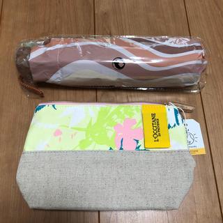 ロクシタン(L'OCCITANE)の300円台のお品1点無料❤レーヌ会員限定折りたたみ傘&エルバヴェール ポーチ (傘)