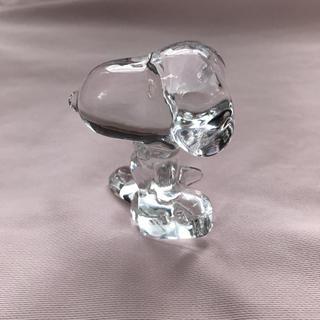 スヌーピー(SNOOPY)のスヌーピーガラス置物 クリスタル (ガラス)