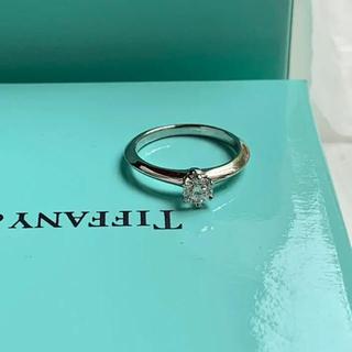 ティファニー(Tiffany & Co.)の新品磨き済み ティファニー  0.27ct pt950 ダイヤモンドリング 6号(リング(指輪))