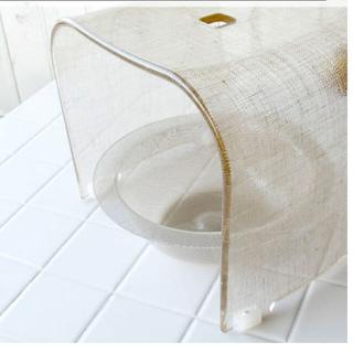 MUJI (無印良品) - 美品 お風呂 椅子 バスチェア チェック アクリル 無印 フランフラン イデー