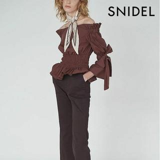 スナイデル(snidel)のSNIDEL◆フレアスリーブブラウス◆ブラウン(シャツ/ブラウス(長袖/七分))