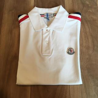 モンクレール(MONCLER)のモンクレール  クリーニング済 ポロシャツ  XS 白(ポロシャツ)