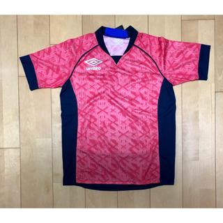 アンブロ(UMBRO)のアンブロ トレーニングシャツ ピンクレッド メンズLサイズ タグ付き新品未使用品(トレーニング用品)