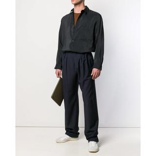 LEMAIRE - LEMAIRE シルクシャツ 黒 ブラック 48