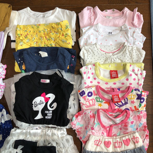 BABYDOLL(ベビードール)の女の子80㎝セット キッズ/ベビー/マタニティのベビー服(~85cm)(その他)の商品写真